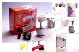 MINI MAQUINA DE COSER CASERA, PORTATIL, ELECTRICA/ O PILA  MINI SEWING MACHINE 4 EN 1