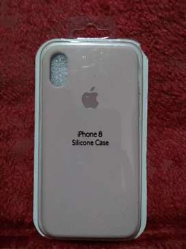 Funda iphone 8 Rosa silicone case