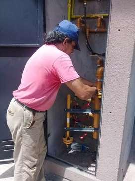 Trabajos de intalaciónes de gas natural y redes de gas matriculado