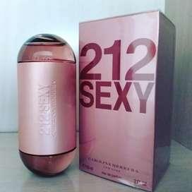 Locion 212 sexy de Carolina Herrera no Armani, Versace, Bvlgari, Calvin Klein