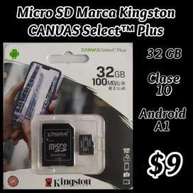 Micro SD Kingston 32 GB $9 - 2 x $15