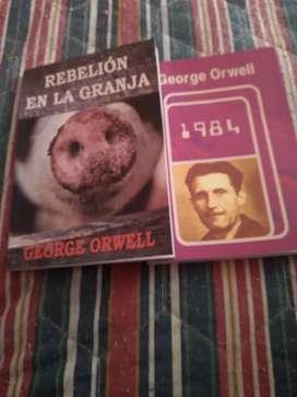 Libros nuevos impecables george orwell 1984 y rebelión granja