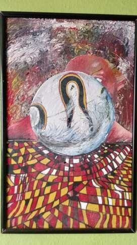Pintura realizada en óleo
