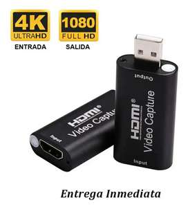 CAPTURADORA DE VIDEO HDMI 1080