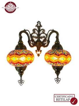Lámpara turca de pared 2 bombones #3