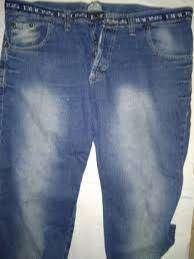 Pantalon Jean Bross T 40 Cintura 56cm Usado Tajo En Tobillo