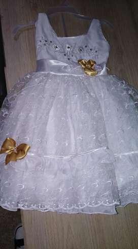 Vendo Vestido de Bautizo Niña 35000