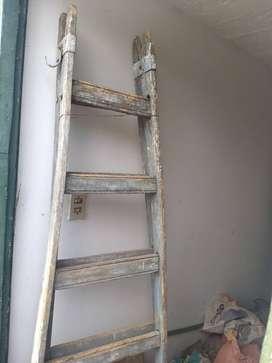 vendo escalera de madera 5 escalones