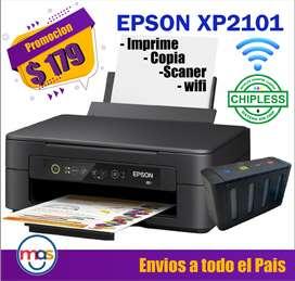 Impresora Multifunion Epson Xp2101 Wf2860 (l6190) L3150 L3110 COPIADORA SCANER WIFI NUEVAS DE PAQUETE SISTEMA CONTINUO