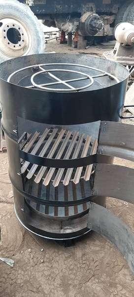 cilindro parrillero para parrilla y pollo al cilindro,con tres ventanas