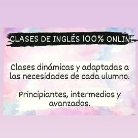¡¡¡CLASES ONLINE DE INGLÉS!!!