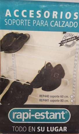 Soporte para calzado para riel ranurado x 2 unidades
