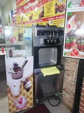 Maquina de helado de crema