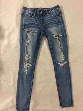 Jeans american eagle,studio ff ,y mas