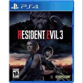 RESIDENT EVIL 3 ( FORMATO FISICO- NUEVO - JUEGO PS4)