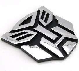 Logo Transformer Cromado 3m Tuning Plateado Decepticon
