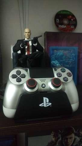 Control Original PS4 Dual Shock 4 Ultimo Modelo Silver (Plata)