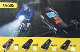Linterna led recargable para bicicleta buen alcance de iluminación  varios  tonos de sonido