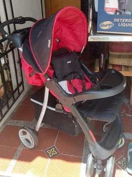 Venta de coche marca Infanti + silla de carro