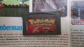 pokemon red , para game boy advanced