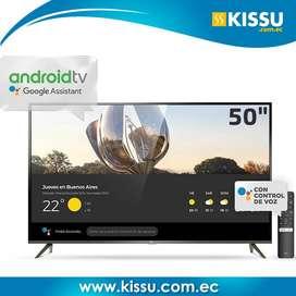 Tv Tcl Led 50 Smart 4k UHD Netflix Bluetooth Control mando de voz Sistema operativo Android