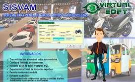 SOFTWARE PARA VENTAS DE MOTOS, AUTOS , MOTOCICLETAS Y AFINES AL CONTADO Y ALCREDITO