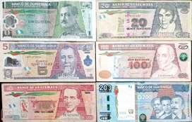 hermosa colección de billetes guatemaltecos