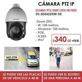 Cámara Tipo Domo Hikvision PTZ Ojo de Águila / IP / 25X / 2MP / IR /RED
