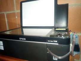 Impresora y fotocopiadora Epson stylus TX 135 con sistema continuo de colores