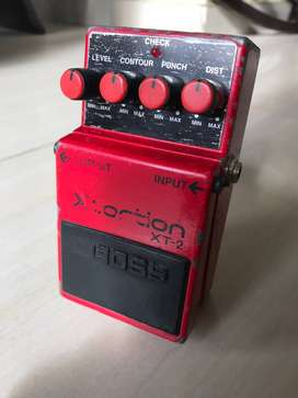 pedal de guitarra boss xt2 xtortion distorcion 90s´s