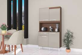 Mueble Alacena Auxiliar De Cocina 4 Puertas + 1 Cajon