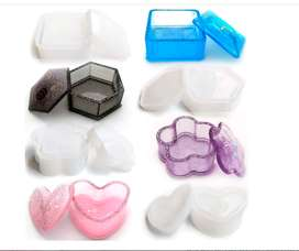 moldes de resina de silicona, 4 piezas de joyería epoxi moldes con forma de corazón, hexágono, cuadrado y flor
