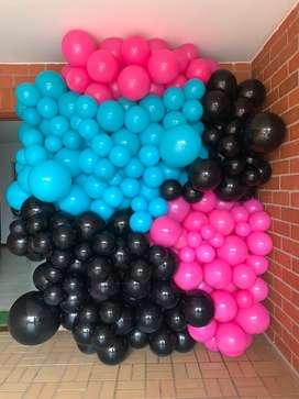 Decoracion en globos y mobiliario