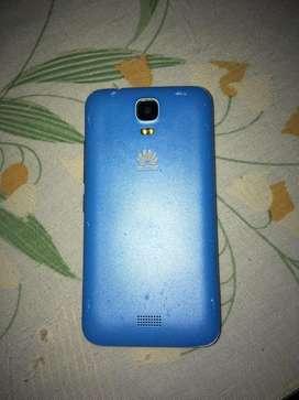 Celular en excelente estado color azul de 4 pulgadas