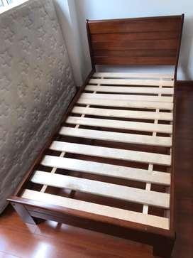 Cama Sencilla y Mueble multifuncional en madera