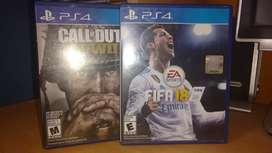 Juegos Call of duty WWII y FIFA 18 (Promoción)