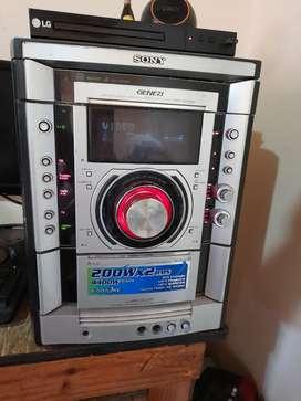 Vendo equipo de sonido Sony Genezy