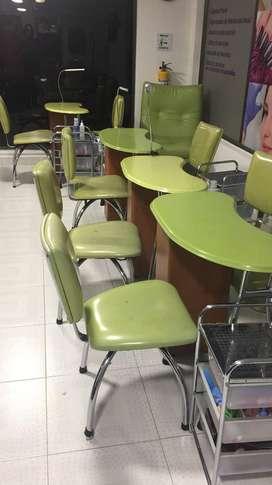 Mesas de Manicure uñas para negocio