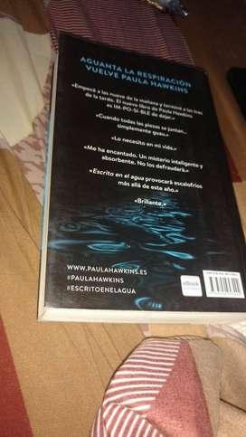 """libro """"escrito en el agua"""""""