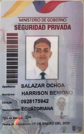 Busco trabajo como guardia de seguridad privada
