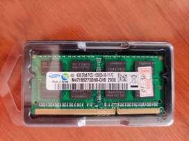 Memoria RAM DDR3 4Gb. para portatil o Mac