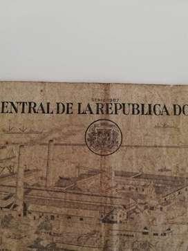 Par de billetes antiguos de República Dominicana