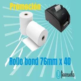 Rollo bond impresoras TMU220 76mmx40mt