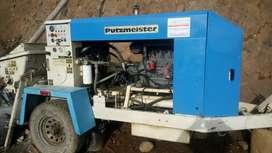 Servicio con bomba de concreto Putzmeister TK 40. También prestamos servicio de perforación para estabilización.