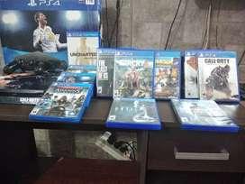 Playstation 4 de 1tb(usada) con 11 juegos