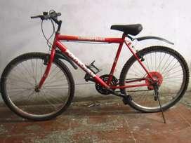 Bicicleta Montañera Básica (Color Rojo) Buen Estado