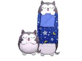 Sleeping almuhada y saco gato gris tipo happy nappers