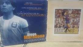 Moneda homenaje 40 años Diego Maradona