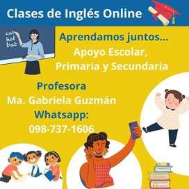 Clases personalizadas de inglés para estudiantes de escuela y colegio
