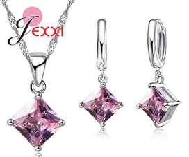 Collar de plata Rosa Mas 2 Pendientes aretes Mujer Regalo Aniversario